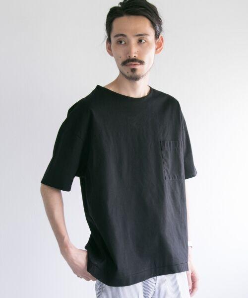 URBAN RESEARCH / アーバンリサーチ Tシャツ | ペーパー天竺シャツTシャツ(black)
