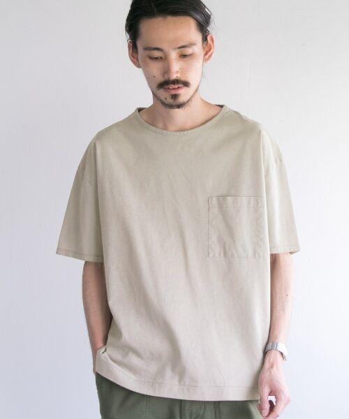 URBAN RESEARCH / アーバンリサーチ Tシャツ | ペーパー天竺シャツTシャツ(sand/beige)