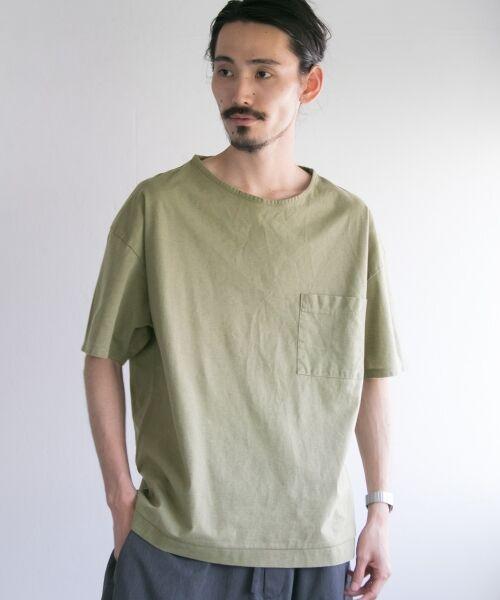 URBAN RESEARCH / アーバンリサーチ Tシャツ | ペーパー天竺シャツTシャツ(khaki)