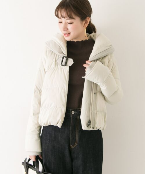 URBAN RESEARCH / アーバンリサーチ ダウンジャケット・ベスト | YOSOOU TWO PIECE COLLAR JACKET(OFF WHITE)