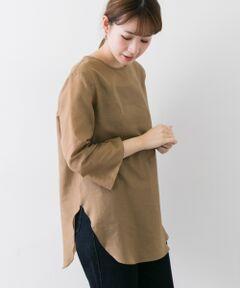 """<strong style=""""font-weight:bold;"""">【女性の気持ちに寄り添った高機能ブラウス】</strong><br>透け感、ハリ感、微光沢のあるシアー素材を使用した上品な1枚。両脇と袖口には、深めのスリットと入れて抜け感を演出、フロントのデザインヨークはヴィンテージブラウスをイメージしました。<br>ナチュラルなシワ感の残る素材のため、モードになり過ぎず、カジュアルな着こなしも可能に。<br>ウォッシャブル対応でイージーケアも嬉しいポイントです。<br><br><strong style=""""font-weight:bold;"""">POINT</strong><br>・ご自宅で手洗いが可能<br>・ヒップラインをカバーするチュニック丈<br>・合わせ易いベーシックカラー<br><br><strong style=""""font-weight:bold;"""">COORDINATE</strong><br>上品なデザインは、カジュアルなボトムと相性が抜群◎またレギンスやスキニーなどのスッキリしたシルエットのものと合わせるとバランスよくまとまります。<br><br>※透け感あり"""