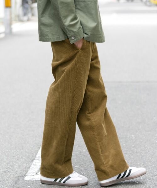 URBAN RESEARCH / アーバンリサーチ その他パンツ | Corduroy Wide Pants(KHAKI)