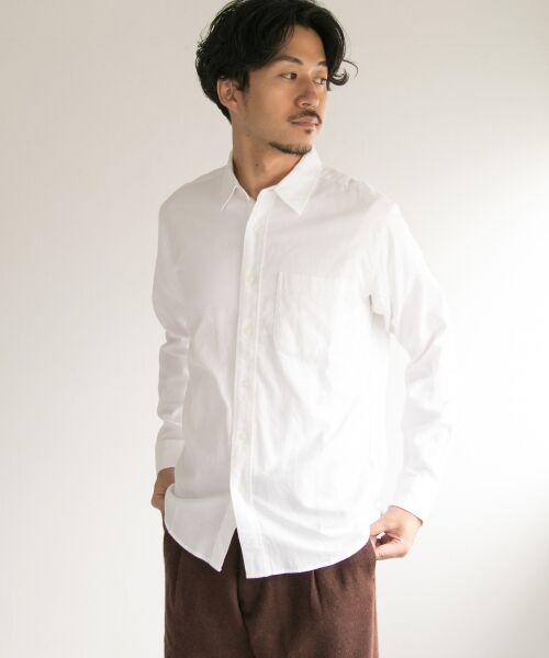 URBAN RESEARCH / アーバンリサーチ シャツ・ブラウス | シャギー起毛シャツ(WHITE)