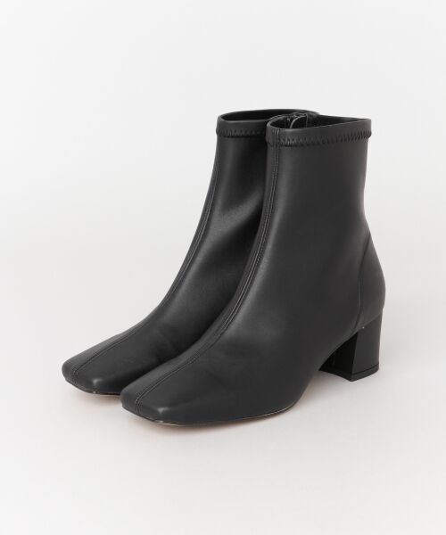 URBAN RESEARCH / アーバンリサーチ ブーツ(ショート丈) | スクエアトゥストレッチブーツ(BLACK)