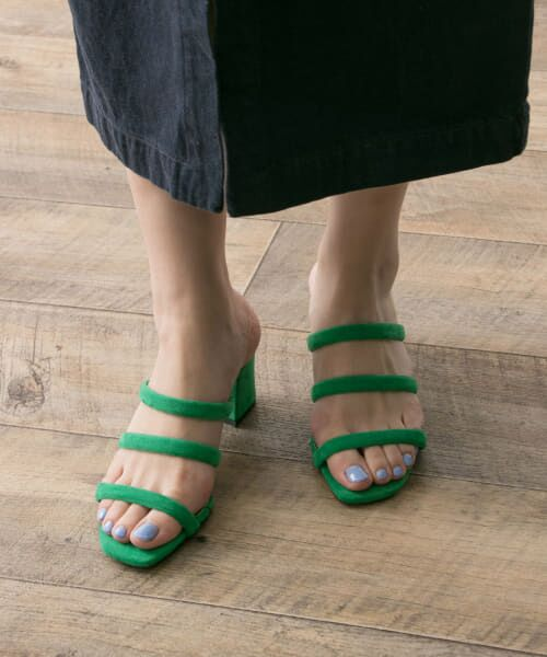 URBAN RESEARCH / アーバンリサーチ サンダル | MILLIWM×URBAN RESEARCH 別注3LineSandal(GREEN)