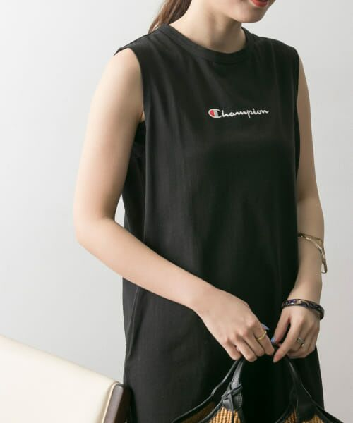 URBAN RESEARCH / アーバンリサーチ ワンピース | Champion×URBAN RESEARCH ウォッシュドコットン刺繍ロゴワンピース | 詳細10