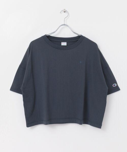 URBAN RESEARCH / アーバンリサーチ Tシャツ | Champion×URBAN RESEARCH ウォッシュドジャージーワイドTシャツ | 詳細13
