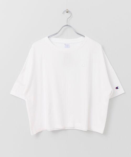 URBAN RESEARCH / アーバンリサーチ Tシャツ | Champion×URBAN RESEARCH ウォッシュドジャージーワイドTシャツ | 詳細14