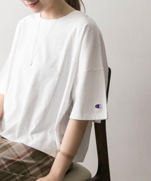 URBAN RESEARCH / アーバンリサーチ Tシャツ | Champion×URBAN RESEARCH ウォッシュドジャージーワイドTシャツ | 詳細3