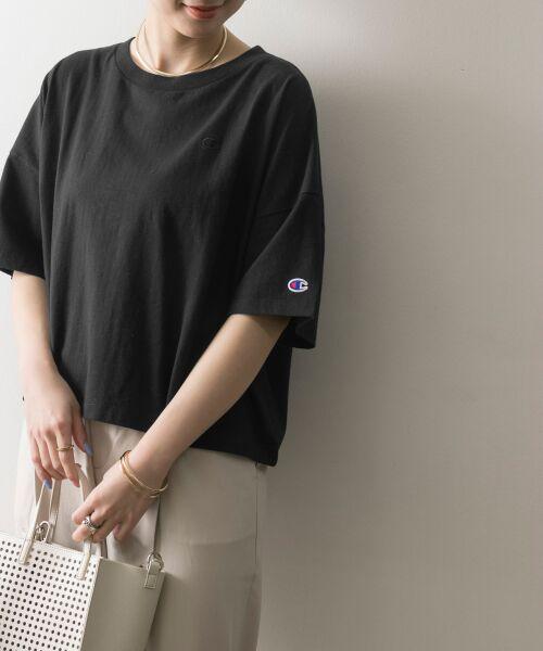 URBAN RESEARCH / アーバンリサーチ Tシャツ | Champion×URBAN RESEARCH ウォッシュドジャージーワイドTシャツ | 詳細6