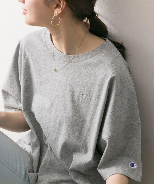 URBAN RESEARCH / アーバンリサーチ Tシャツ | Champion×URBAN RESEARCH ウォッシュドジャージーワイドTシャツ | 詳細8