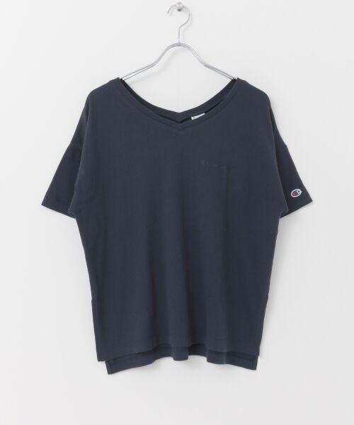 URBAN RESEARCH / アーバンリサーチ Tシャツ | Champion×URBAN RESEARCH ソフトコットン刺繍ロゴVネックTシャツ | 詳細15