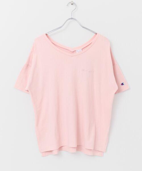 URBAN RESEARCH / アーバンリサーチ Tシャツ | Champion×URBAN RESEARCH ソフトコットン刺繍ロゴVネックTシャツ | 詳細16