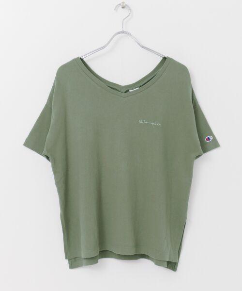 URBAN RESEARCH / アーバンリサーチ Tシャツ | Champion×URBAN RESEARCH ソフトコットン刺繍ロゴVネックTシャツ | 詳細17