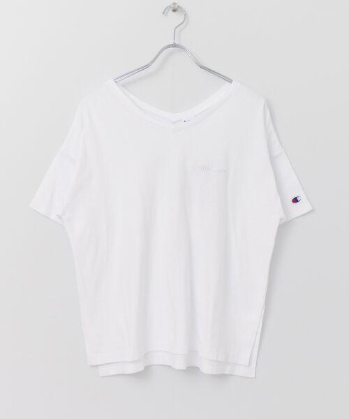 URBAN RESEARCH / アーバンリサーチ Tシャツ | Champion×URBAN RESEARCH ソフトコットン刺繍ロゴVネックTシャツ | 詳細18