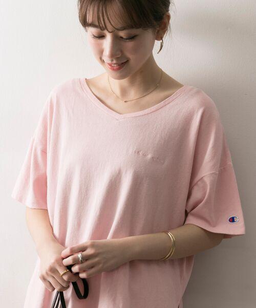 URBAN RESEARCH / アーバンリサーチ Tシャツ | Champion×URBAN RESEARCH ソフトコットン刺繍ロゴVネックTシャツ | 詳細5