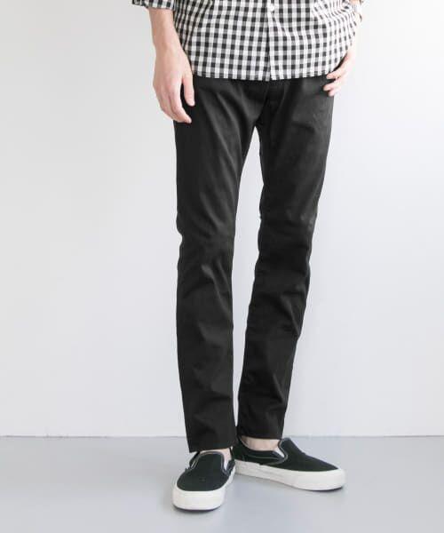 URBAN RESEARCH / アーバンリサーチ その他パンツ   japan made slim trousers(BLACK)