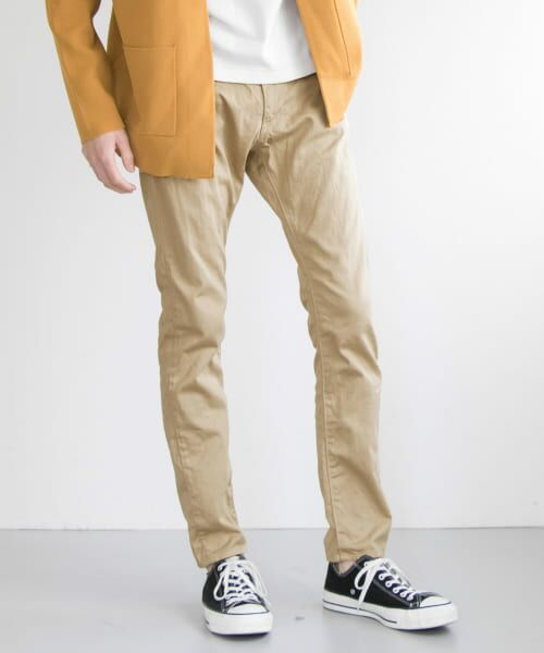 URBAN RESEARCH / アーバンリサーチ その他パンツ   japan made slim trousers(BEIGE)