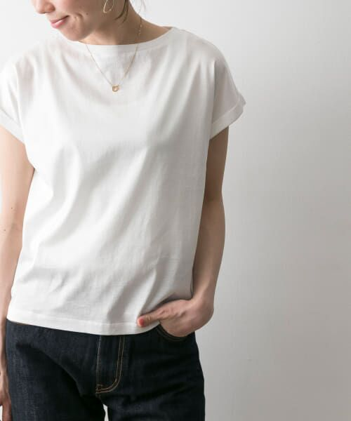 URBAN RESEARCH / アーバンリサーチ Tシャツ | ペルビアンコットンTシャツ(WHITE)