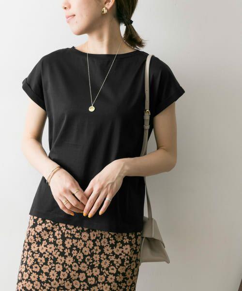 URBAN RESEARCH / アーバンリサーチ Tシャツ | ペルビアンコットンTシャツ(BLACK)