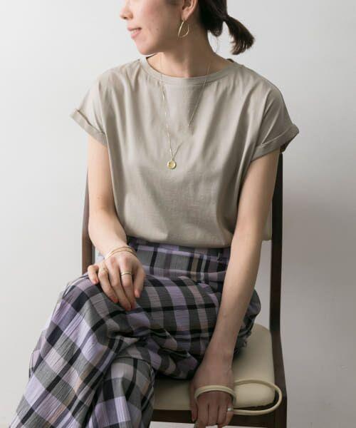 URBAN RESEARCH / アーバンリサーチ Tシャツ | ペルビアンコットンTシャツ(TAUPE)