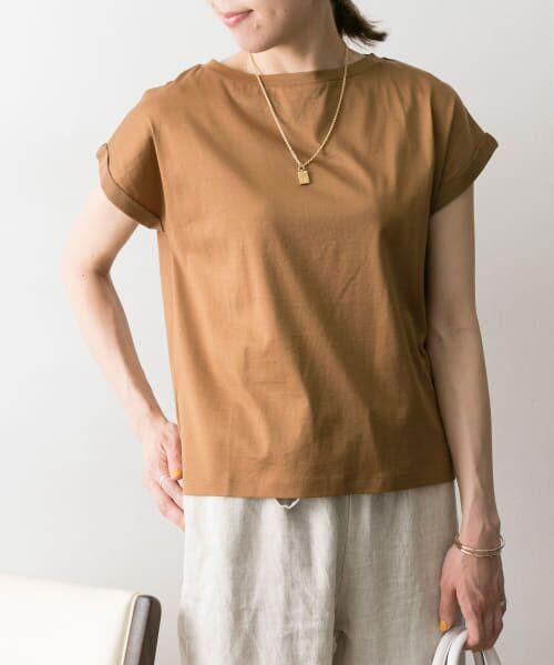 URBAN RESEARCH / アーバンリサーチ Tシャツ | ペルビアンコットンTシャツ(BROWN)