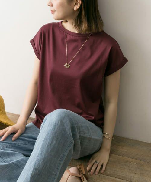 URBAN RESEARCH / アーバンリサーチ Tシャツ | ペルビアンコットンTシャツ(P.BROWN)