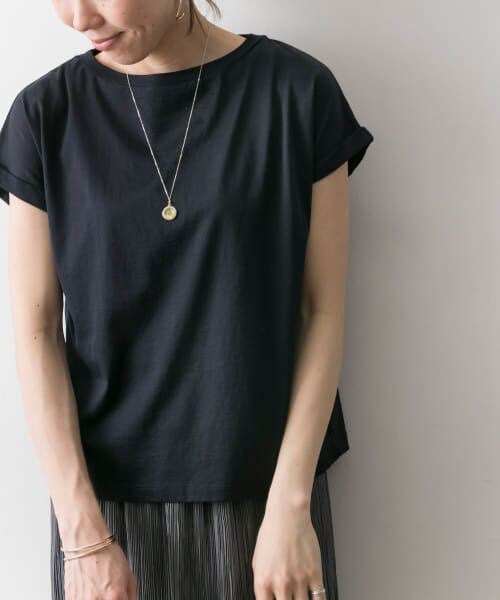URBAN RESEARCH / アーバンリサーチ Tシャツ | ペルビアンコットンTシャツ(NAVY)