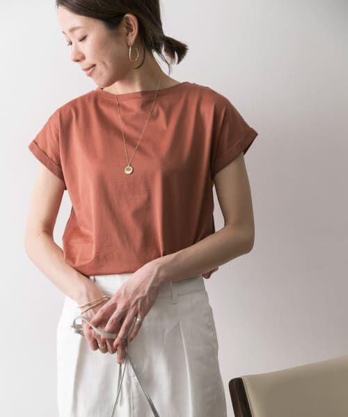 URBAN RESEARCH / アーバンリサーチ Tシャツ | ペルビアンコットンTシャツ(ROSE)
