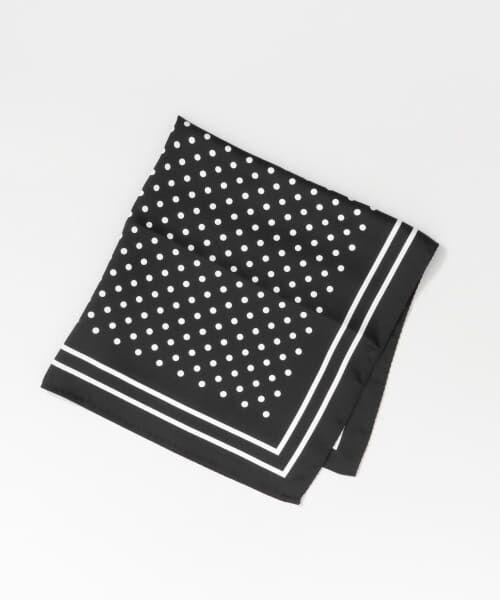 URBAN RESEARCH / アーバンリサーチ バンダナ・スカーフ | ドットスカーフ(BLACK)
