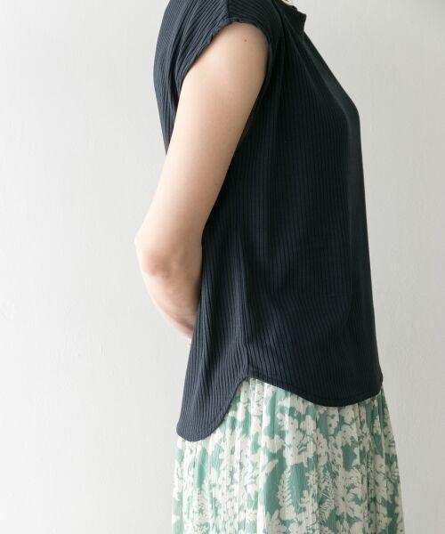 URBAN RESEARCH / アーバンリサーチ Tシャツ   機能素材針抜きテレコカットソー(NVY)