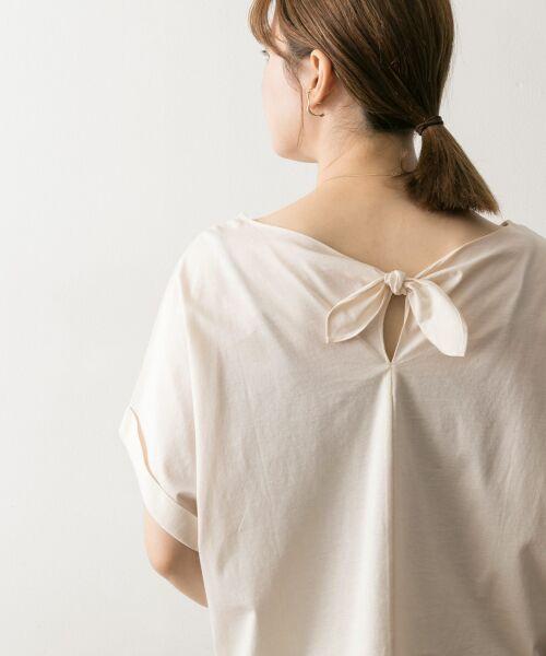 URBAN RESEARCH / アーバンリサーチ Tシャツ | バックリボンカットソー(IVO)
