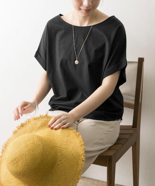 URBAN RESEARCH / アーバンリサーチ Tシャツ | バックリボンカットソー(BLK)
