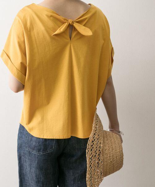 URBAN RESEARCH / アーバンリサーチ Tシャツ | バックリボンカットソー(YEL)