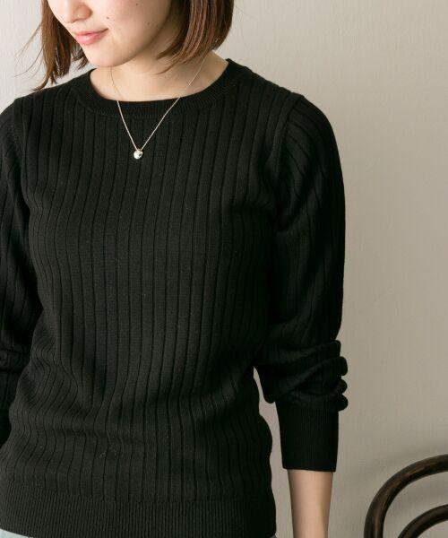 URBAN RESEARCH / アーバンリサーチ ニット・セーター | コンパクトリブニット(長袖) | 詳細16