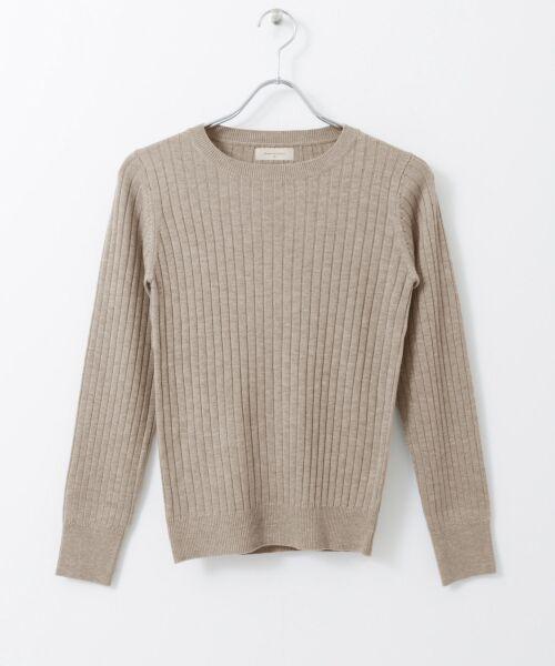 URBAN RESEARCH / アーバンリサーチ ニット・セーター | コンパクトリブニット(長袖) | 詳細25