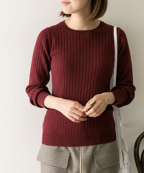 URBAN RESEARCH / アーバンリサーチ ニット・セーター | コンパクトリブニット(長袖) | 詳細5