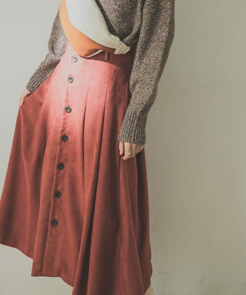 URBAN RESEARCH / アーバンリサーチ スカート | フロント釦フェイクスエードスカート | 詳細13
