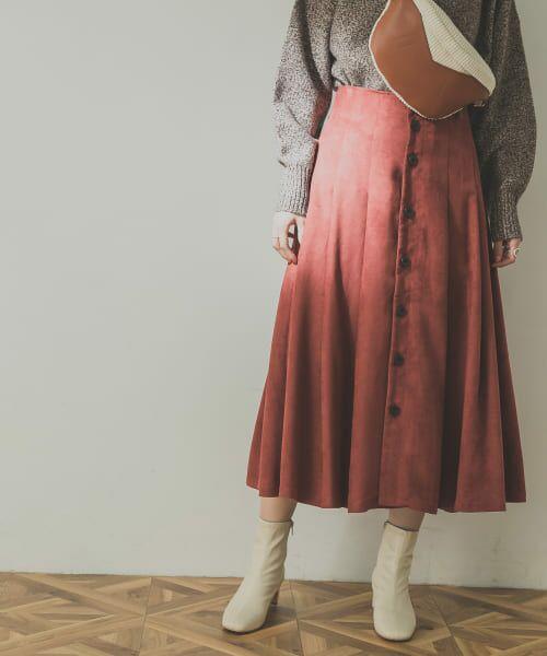 URBAN RESEARCH / アーバンリサーチ スカート | フロント釦フェイクスエードスカート | 詳細15