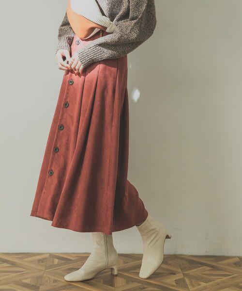 URBAN RESEARCH / アーバンリサーチ スカート | フロント釦フェイクスエードスカート | 詳細16
