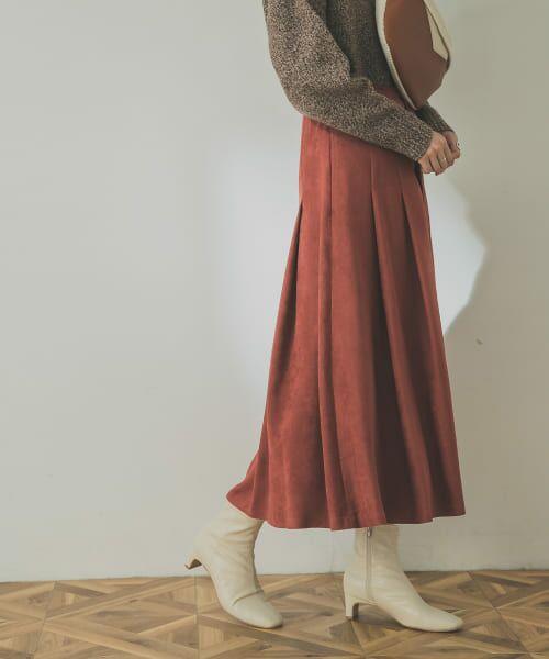 URBAN RESEARCH / アーバンリサーチ スカート | フロント釦フェイクスエードスカート | 詳細17