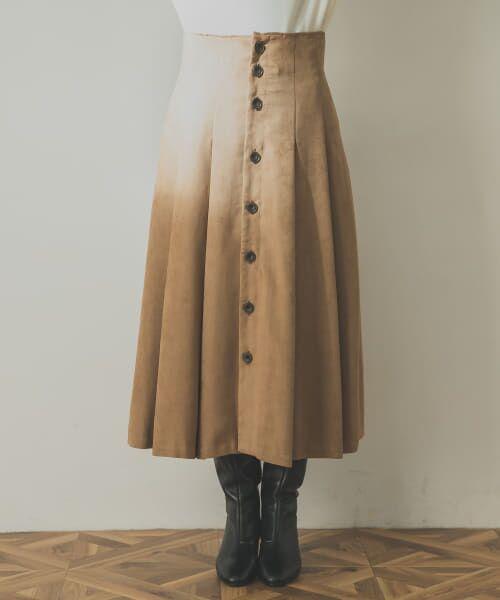 URBAN RESEARCH / アーバンリサーチ スカート | フロント釦フェイクスエードスカート | 詳細18
