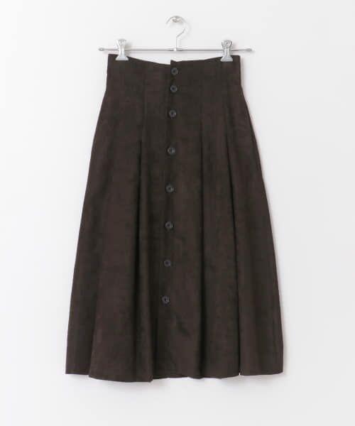 URBAN RESEARCH / アーバンリサーチ スカート | フロント釦フェイクスエードスカート | 詳細21
