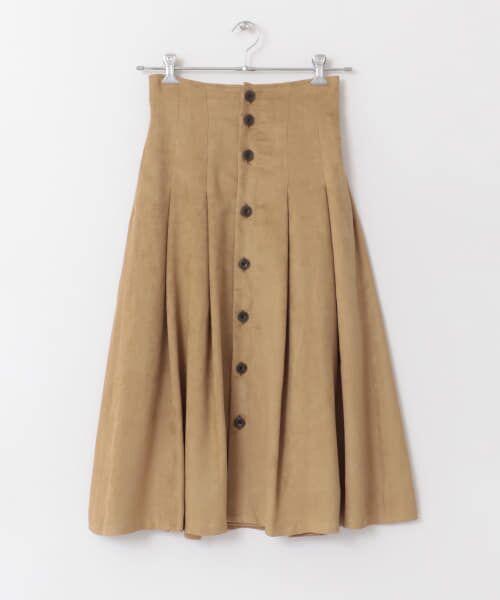 URBAN RESEARCH / アーバンリサーチ スカート | フロント釦フェイクスエードスカート | 詳細22