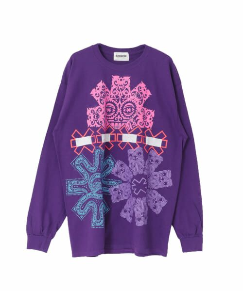 URBAN RESEARCH / アーバンリサーチ Tシャツ | BOWWOW MULTI LS(PURPLE)