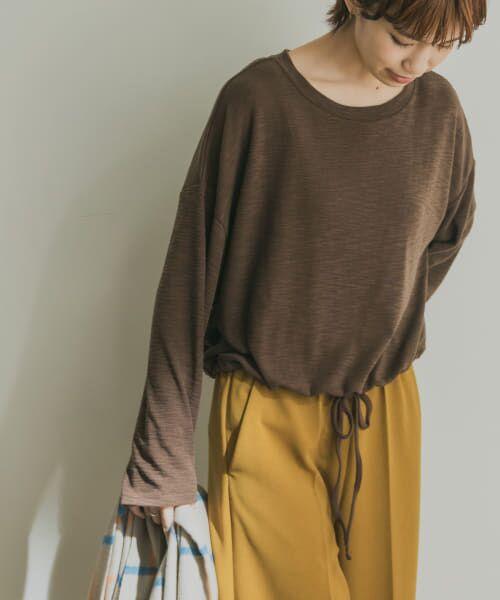 URBAN RESEARCH / アーバンリサーチ Tシャツ   ドロストカットソー(BROWN)