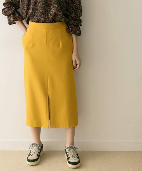 URBAN RESEARCH / アーバンリサーチ スカート | ジョーゼットタイトスカート(YELLOW)