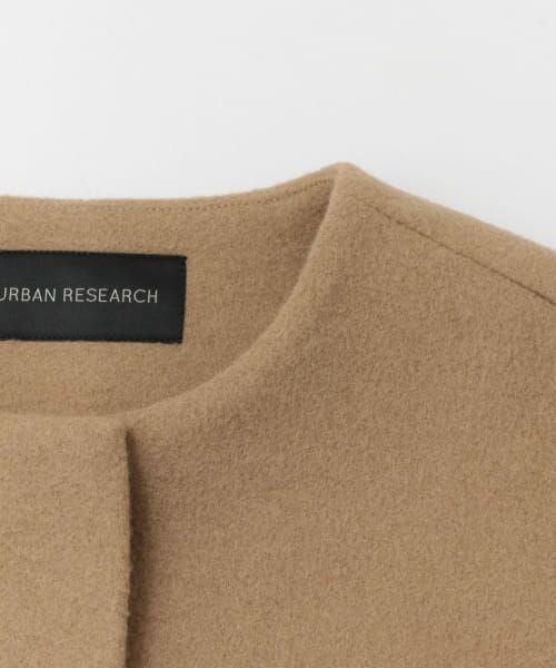 URBAN RESEARCH / アーバンリサーチ ノーカラージャケット | 二重織ノーカラーハーフコート | 詳細16