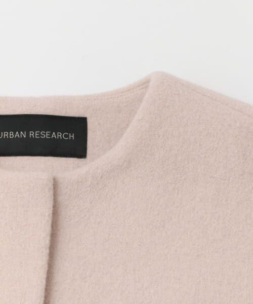 URBAN RESEARCH / アーバンリサーチ ノーカラージャケット | 二重織ノーカラーハーフコート | 詳細17