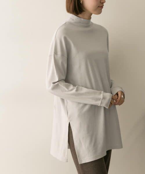 URBAN RESEARCH / アーバンリサーチ Tシャツ   スムースモックネックカットソー(TAUPE)